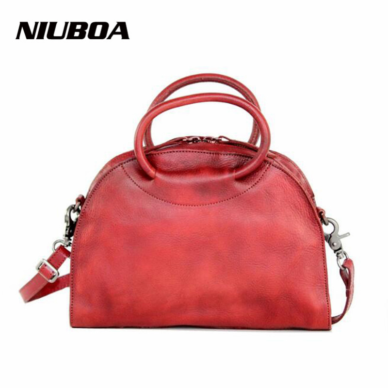 NIUBOA Women Bag Mid Size Luxury Elegant Top Genuine Leather Bags Brand Women Designer Handbags 100% Cowhide Female Shoulder Bag niuboa bag female women s 100