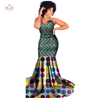 Autumn Women traditional african dresses Brand Custom Clothing Africa Wax Dashiki Slim Cut Sexy Dress big size none BRW WY1393