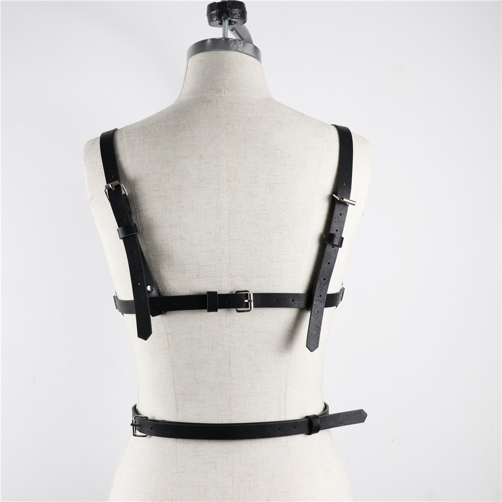 BDSM Bondage Rope Leather Harness Toys For Women Adult Game Outfit Bra And Leg Suspenders Straps Garter Belt Sex Accessories Set 5