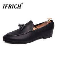 2019 New Luxury Office Shoes for Men Black Men Party Dress Shoes Non Slip Wedding Dress Shoes High Quality Brand Leather Shoes