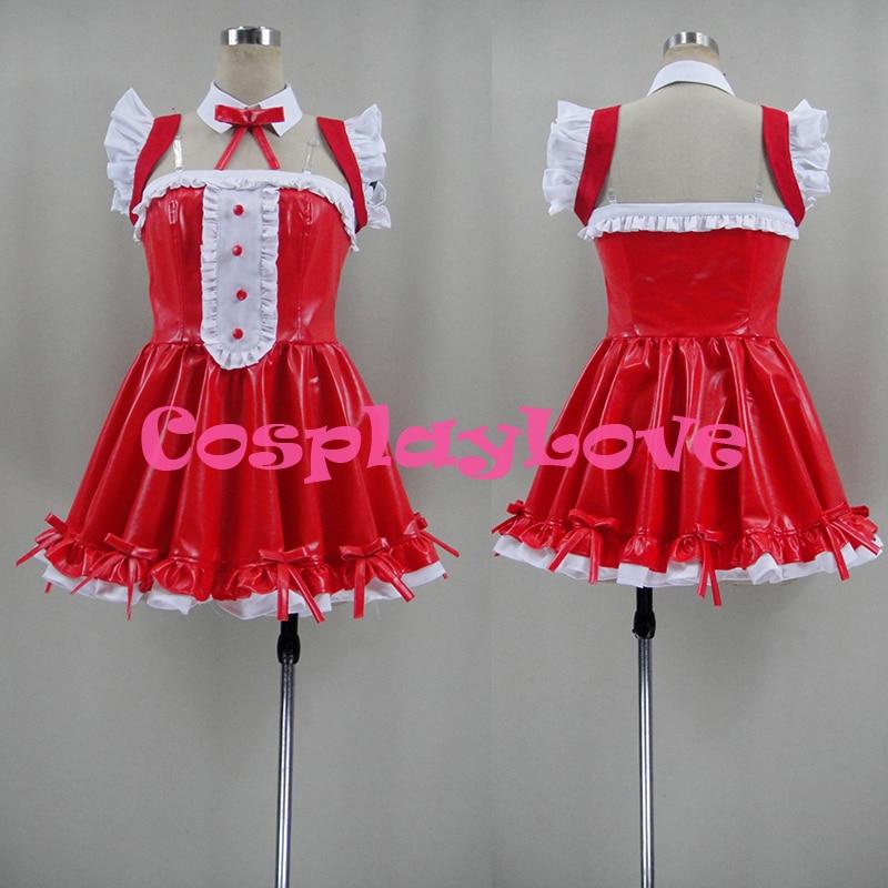 Custom Made Japanese Athemis SUPERSONICO Christmas Cosplay Costume Red Girl Dress High Quality CosplayLove
