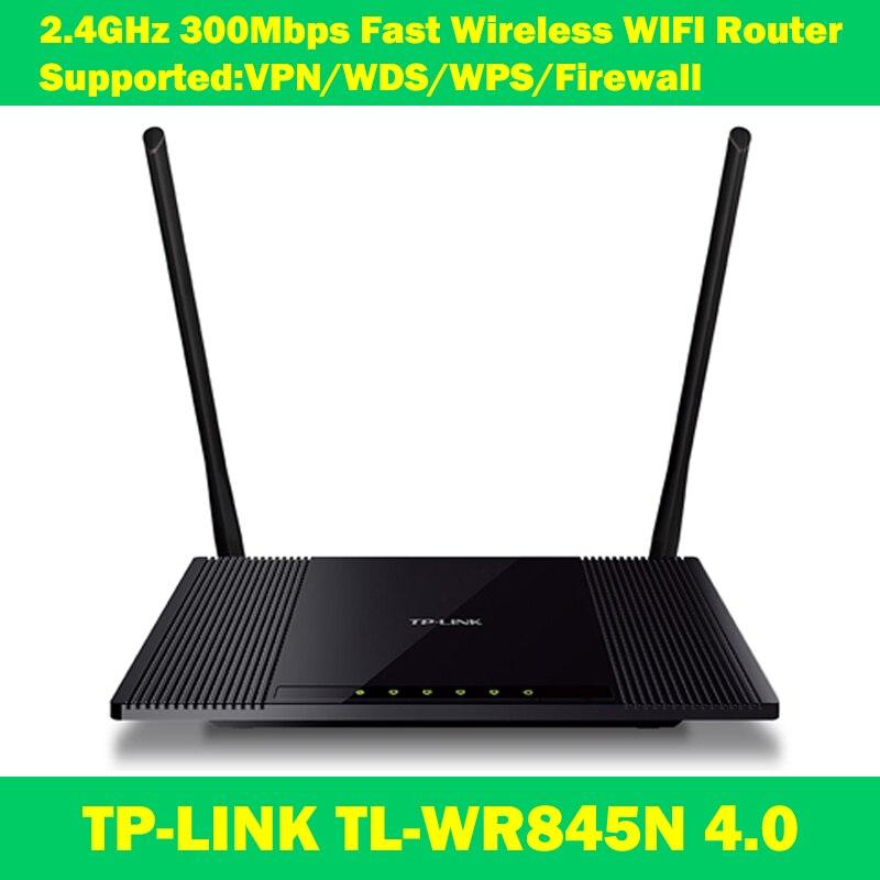NEW Stock TP-LINK TL-WR845N 802.11n/g/b 300Mbps VPN wireless WI-FI range extender wifi router 2 antennas wi fi роутер tp link td w8961n