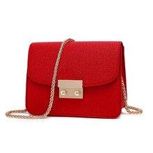 2016 Nouvelle Mode Solide Couleur Petit Paquet Portable Sac Femmes bandoulière sacs d'épaule de dames sac à main et sacs à main bolsas feminina