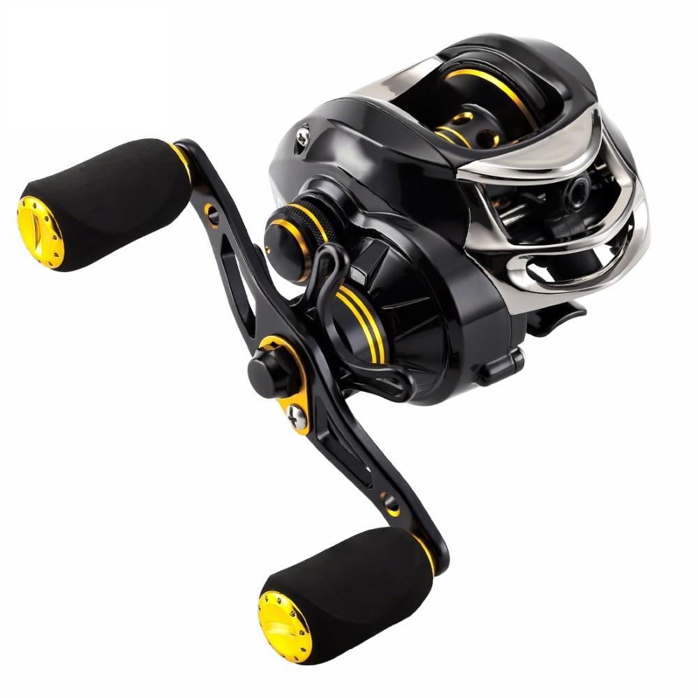 LYCAN Bait Casting Fishing Reel 205g 12BB 7.0:1 5KG Fishing Reels Baitcasting Reel Magnetic Systems Water Drop Wheel
