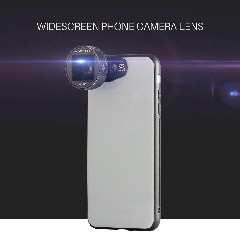 1.33 X Morph Écran Large Téléphone Caméra Lentille Anamorphique, KAPKUR 2.4: 1 film Tir Professionnel photos Objectif pour iPhone X/7 p/8 p
