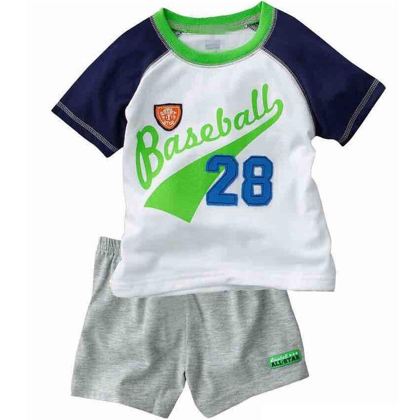 2018 Fashion Boys Pajamas Suit Summer Children Dinosaur Baby Sleepwear Baby Boy's Clothes 100% Cotton Tee shirt Short Pants Soft 5