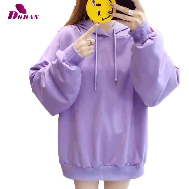 2018 New Fashion Pink purple hoodies sweatshirt hoody lady's hoody harajuku sweatshirt for women Causal Long Sleeve Heart