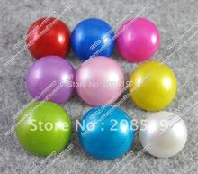 NB030 mixed buttons 180pcs/lot 17.5mm round pearl shape garment buttons(Any color available)