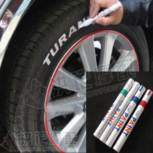universal DIY lettering car scratch remover repair pen paint for tire BLUE RED WHITE GREEN