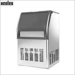 Xeoleo التجارية جهاز تكوين الثلج 50 كجم/24 h آلة صنع الثلج الفولاذ المقاوم للصدأ آلة صنع الثلج 10 كجم لتخزين شاي فقاعات/القهوة/بار