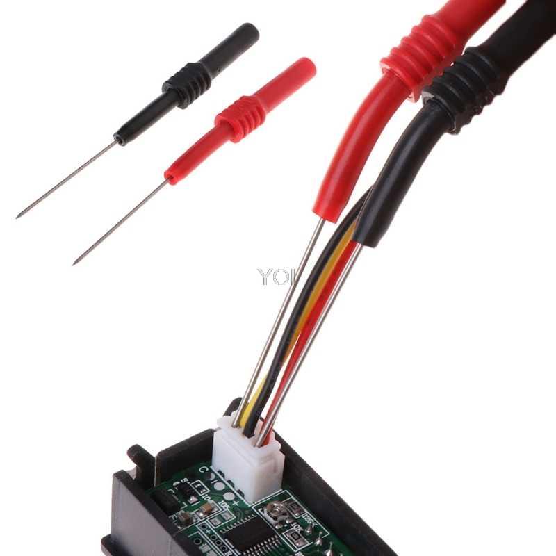 Fils de Test broche L95mm embouts de sonde de Test flexibles 1mm connecteur multimètre aiguille AP16