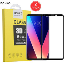 2 PACK For LG V30 3D Screen Protector Protective Film  Full Cover HD Tempered Glass