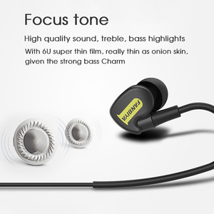 Image 4 - TRANSCTEGO sport wired Earphone running headphones sports universal wired earphones with mic 3.5mm jack standard stereo headset