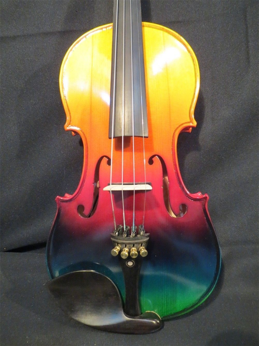 Brand New Handmade Colorful Electric / Acoustic Violin/Violino 4/4 Violin Bow Case Perfect Sound image