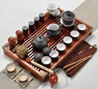 Free shipping,Purple Clay Kung Fu Tea Set Drinkware Tea Cup,Tureen Infuser,Chinese Tea Ceremony with Gaiwan,Chahai Tea Table