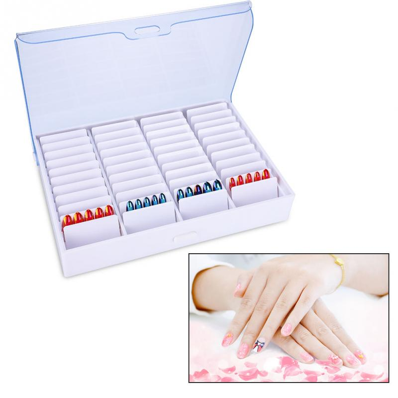 Manicure Nail Art Tools Storage Box Empty Clear Nail Art Decoration Rhinestone Gem Bead Container Rhinestone False Fake Nail Box 24 pcs chic flower bow bead rhinestone embellished impressional nail art false nails