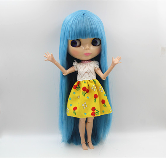 Blygirl Blyth doll Nude doll light blue bangs straight hair 30cm joint body 19 joint DIY doll can change makeup toys gift shimelis dagnachew epidemiology of bovine trypanosomosis in northwest ethiopia