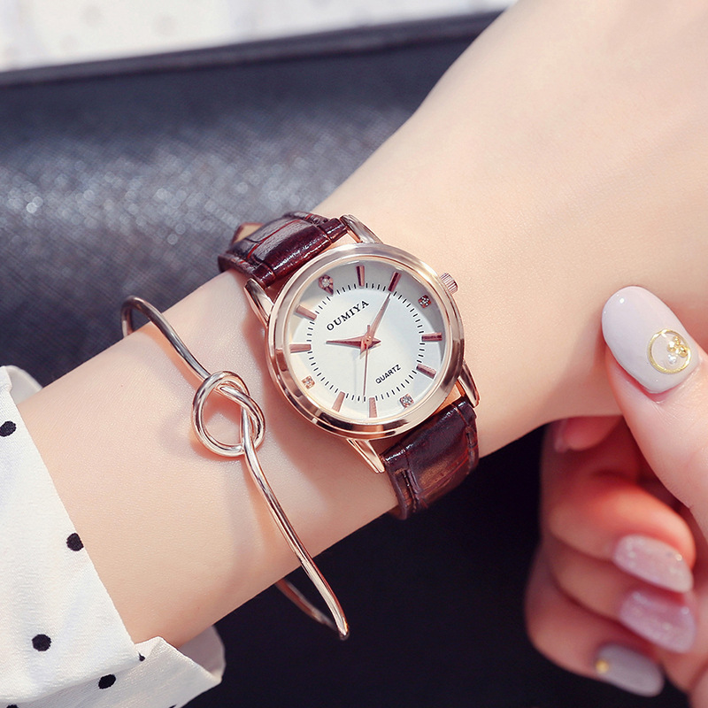 New Fashion Couple Simple Casual Male Watch Female Leather Belt Retro Lover Unisex Quartz Watch