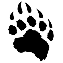 CS-1324#14*18cm bear paw funny car sticker vinyl decal silver/black for auto stickers styling