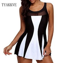 где купить 2019 New Dot Print Tankini Set Swim Plus Size Swimwear Women Swimsuit Vintage Beach Wear Bathing Suits Female Bandage Monokini по лучшей цене