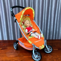 Hot Sale Children's Toy Cart Girl Play House Toy Cart Baby Wheel Doll Stroller Toys for Children Birthday Christmas Gifts