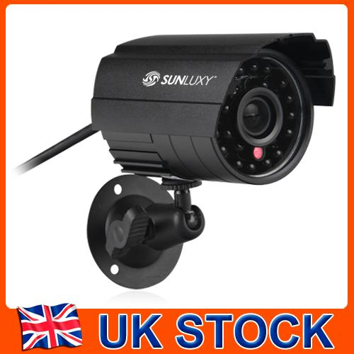 Cheap! UK Stock SUNLUXY CCTV Outdoor Security Camera Waterproof Day Night Vision Surveillance Camera 1/4 Color CMOS NTSC/PAL sunluxy 1000tvl cctv camera pal 1 3cmos waterproof ir night vision surveillance bullet outdoor security cameras sl c226 spain