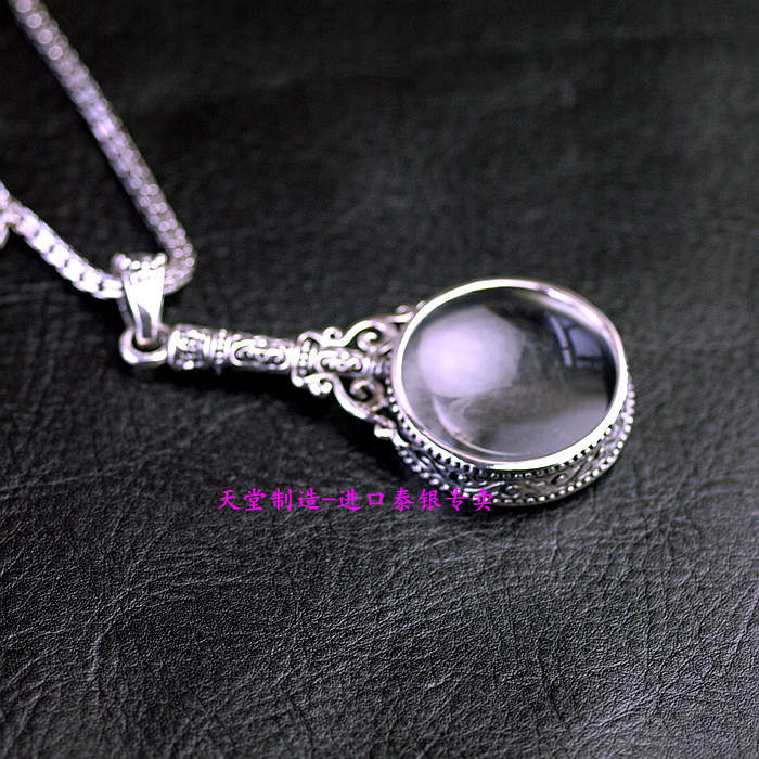 Retro styling 925 sterling silver magnifying glass pendants in retro styling 925 sterling silver magnifying glass pendants in pendants from jewelry accessories on aliexpress alibaba group aloadofball Gallery
