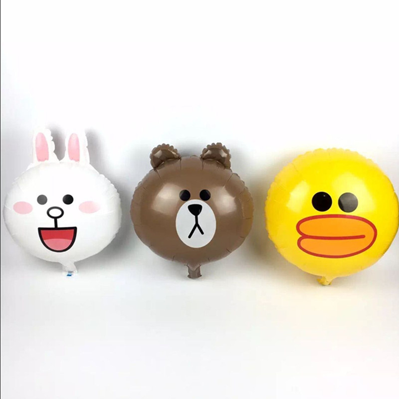3pcs/lot  bear rabbit  Foil Balloons Inflatable toys cartoon Helium Balloon clas