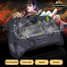 Gamepad Controller พัดลมระบายความร้อนโทรศัพท์มือถือ Dual Cooling หม้อน้ำสมาร์ทโฟน 2000mAh Power Bank ventilador para movil