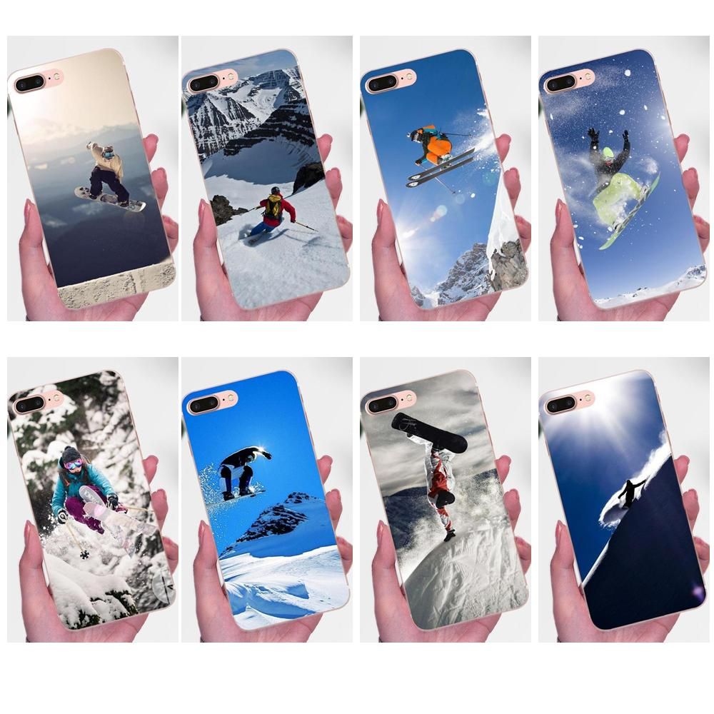 For Huawei Mate 7 8 9 10 20 P8 P9 P10 P20 P30 Lite Plus Pro 2017 TPU Cases Capa Cover Snow Or Die Ski Snowboard