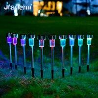 Jiaderui 10pcs Lot LED Stainless Steel Solar Lawn Light For Home Garden Decor Lighting Solar Power