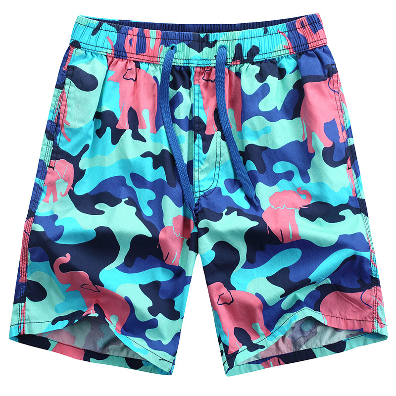 Free shipping men Beach pants Fashion quick dry camouflage   board     shorts   472