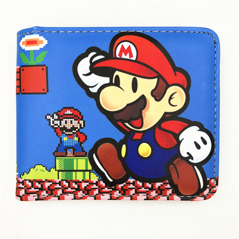 New Arrive Super Mario World Wallet Cute Cartoon Comics Purse Student Short Game Wallet Credit Card Holder Anime Purse W477 pixels pacman wallet 3d embossing short purse for student boy girls slim silicone wallet game cartoon designer wallet billeteras