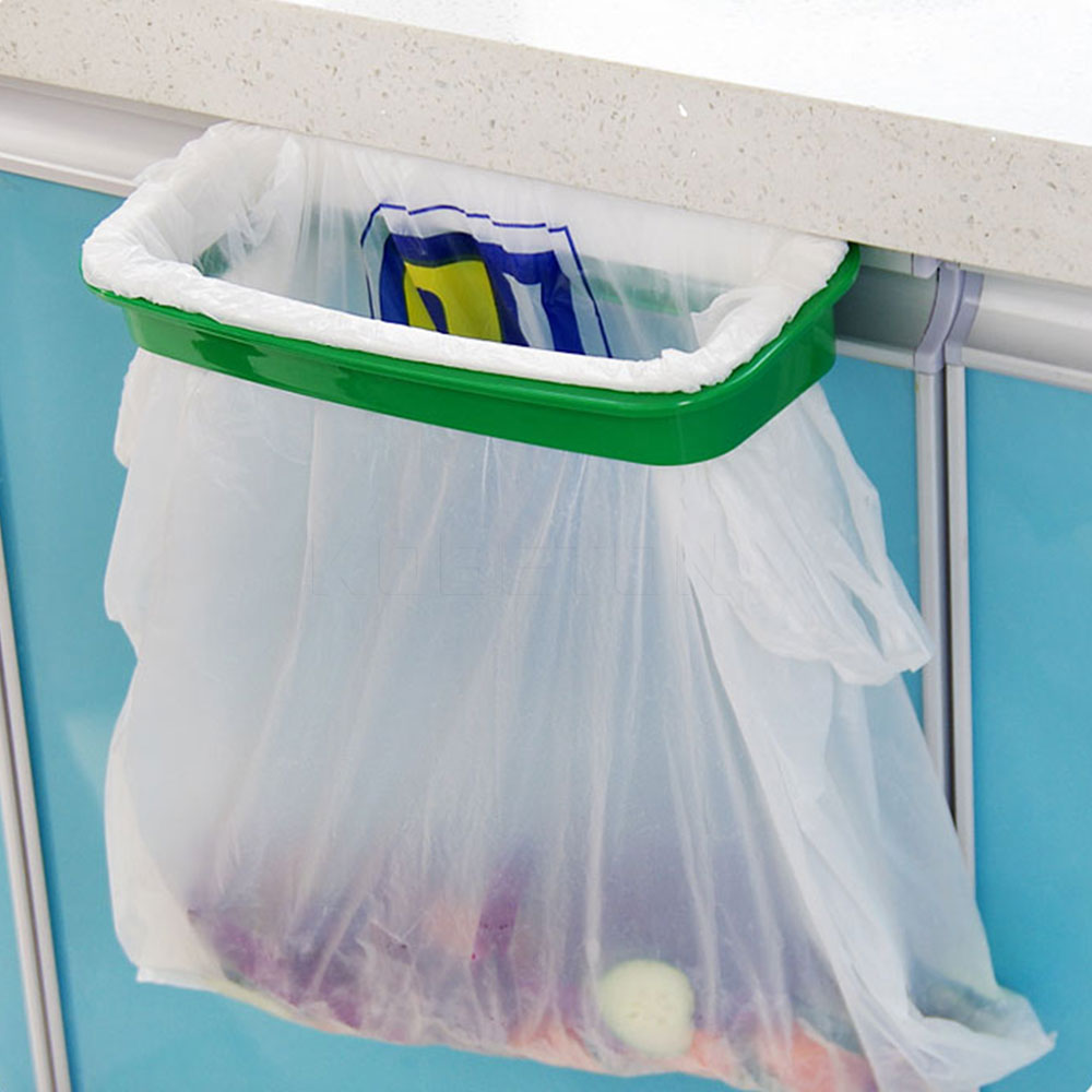 vacuum base garbage bag holder trash bag rack rubbish bin kitchen cupboard cabinet tailgate portable plastic - Trash Bag Holder