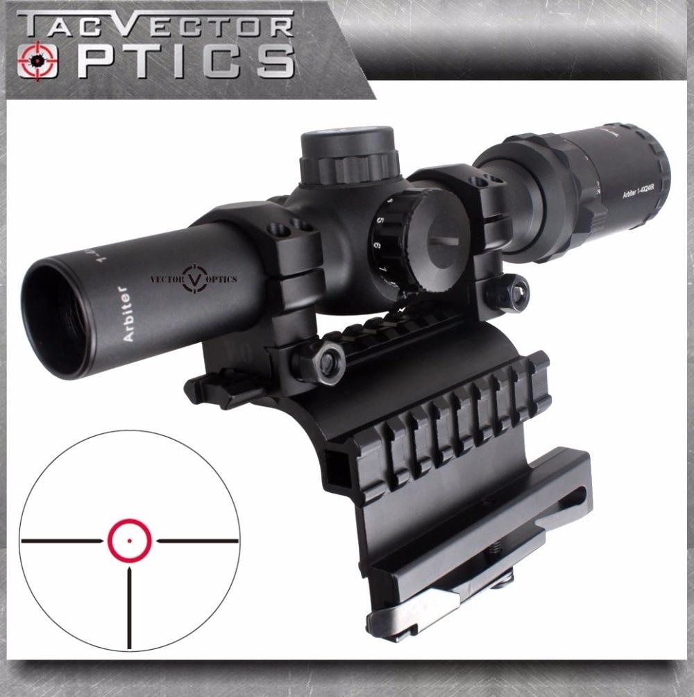 Optique vectorielle AK 47 AK74 1-4x24 lunette de visée tactique compacte de 30mm avec support de Rail latéral AK 47 74 QD pour armes à feu réelles 2 en 1