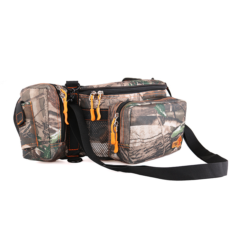 JUNGLEMAN thickening seismic lures camouflage messenger bag purse lures fishing gear bag pockets T287