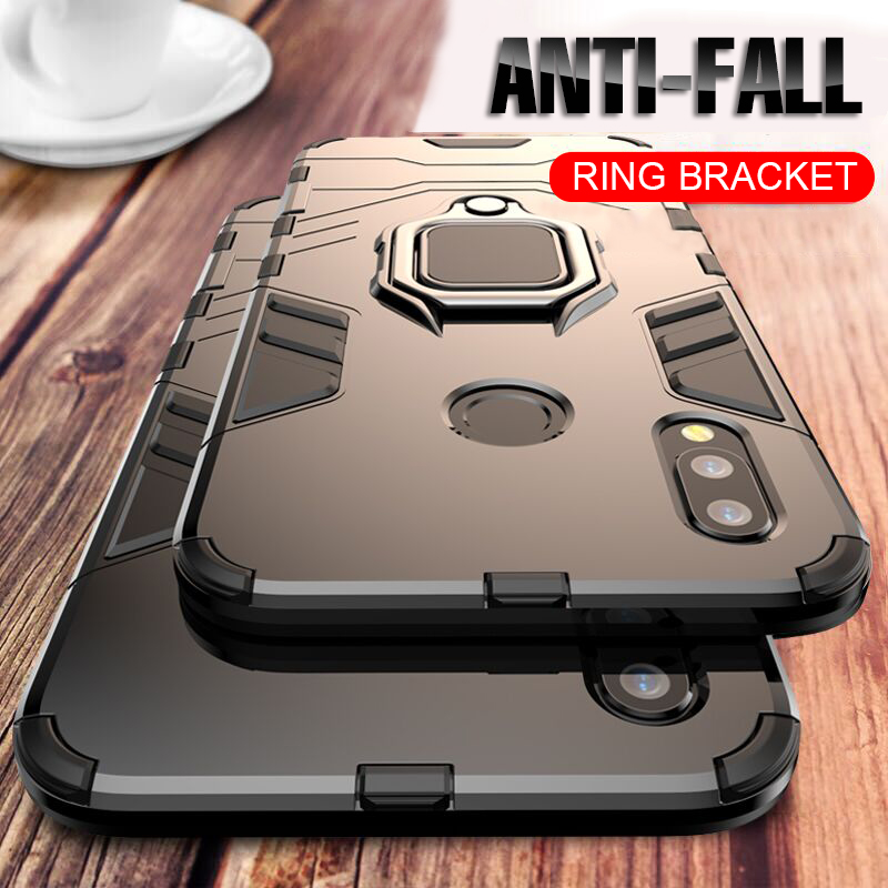 For Huawei P30 P20 Mate 20 Pro Lite 9 10 Nova 3 3i 4 Luxury Armor Finger Ring Case For P Smart Y6 Y7 Y9 2019 Phone Cover Case-in Fitted Cases from Cellphones & Telecommunications