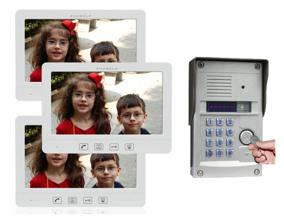 ZHUDELE Home Security Intercom 10.1 Video Door Phone Metal CCD Camera Password&ID Card Unlocking function Support IP Camera