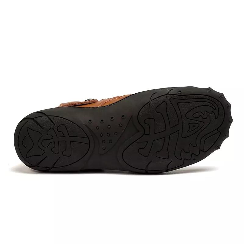 Ccharmix брендовая мужская Рыбак Сандалии черные туфли высокого качества большие  размеры Мужская обувь Открытый летнее платье кожа человека Sandles ... b465956f452