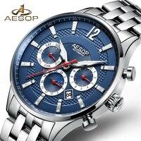 AESOP Man Watch Men Sport Automatic Mechanical Watch Men's Wrist Watches Stainless Steel Male Clock Men Relogio Masculino