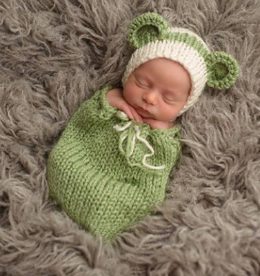 2pcs new born hat+Sleeping bag Wholesale Baby Girl And Boy Clothes Newborn Photography Props Summer Style 0-3months