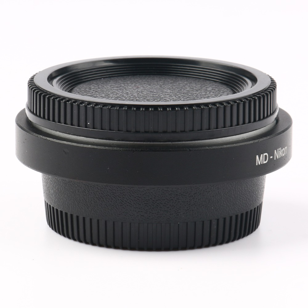 MD-AI Camera Lens Adapter with Optical Glass Infinity Focus f Minolta MD MC Mount Lens to AI DSLR D5600 D7000 D7200 D800