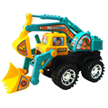 Happy Cherry  Kids Colorful Inertia Excavator Bulldozer Tractor Construction Truck Toy Digger Vehicle Toys for Baby Boys Girls