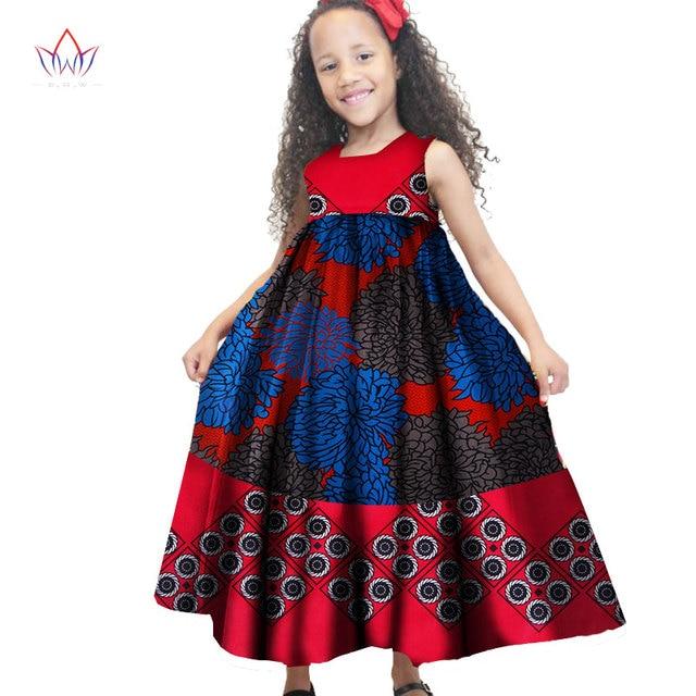 704d814081e 2019 African Women Clothing kids dashiki Traditional cotton Dresses  Matching Africa Print Dresses Children Spring BRW WYT48