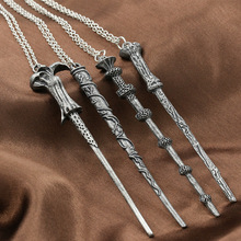 The new harry potter harry hermione magic wand dumbledore alloy necklace