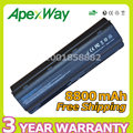 Apexway 12 cell 8800mAh Battery for hp Pavilion dv5 dv6 dv7 g6 G32 G72 G42 G56 G72 MU06 593554-001 MU09XL WD548AA 593550-001
