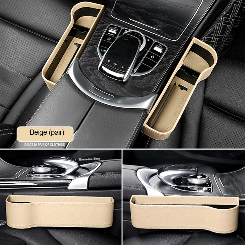 Авто Интерьер автомобильные аксессуары сиденье зазор хранения Органайзер для сиденья щелевая коробка для хранения кожаный карман из искусственной кожи держатель для воды