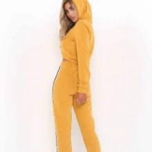 New 2Pcs Set Women Hoody Sweatshirt  Ladies Tracksuit Crop Hoodies Sweatshirt Pants Sets Leisure Wear Casual Suit