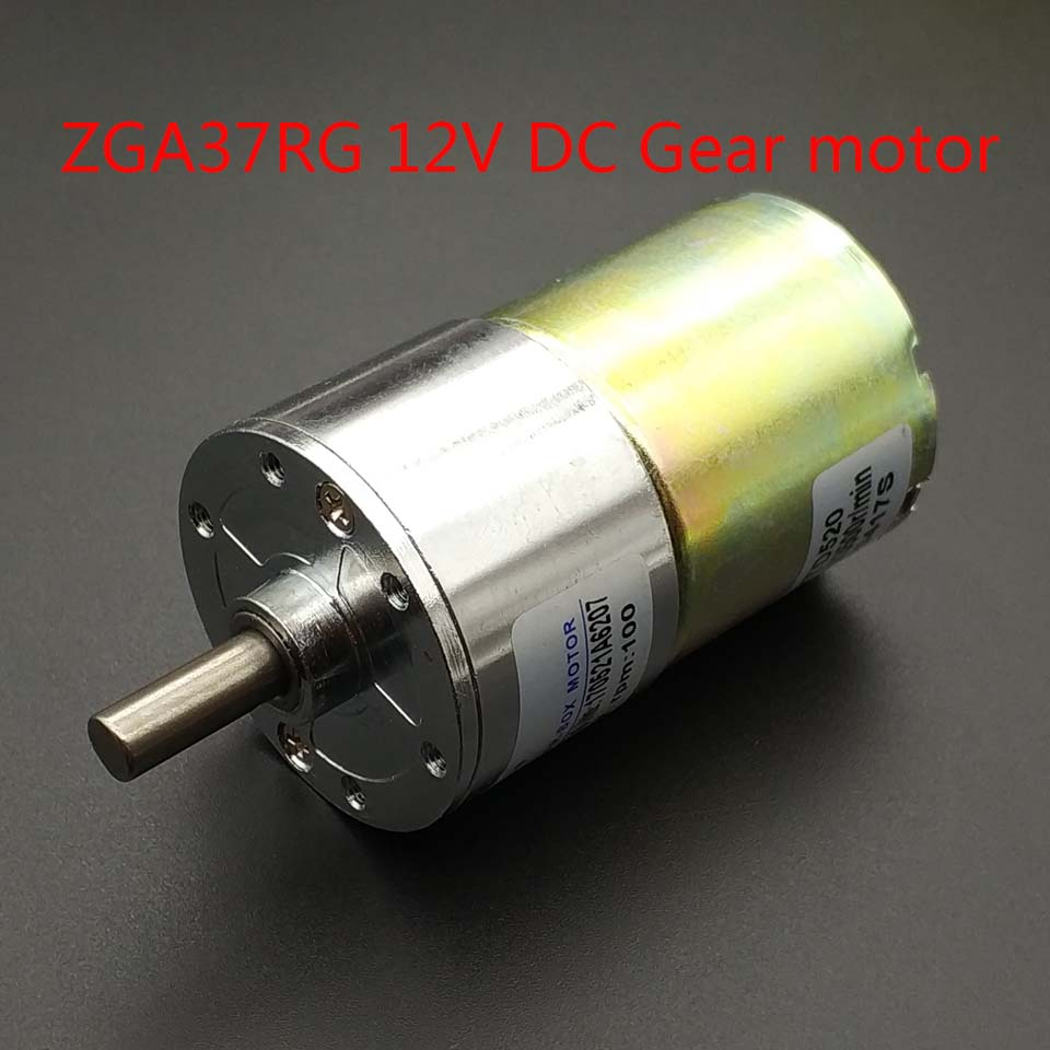 ZGA37RG 12VDC 2/5/10/15/20/30/50/60/80/100/120/150/200/300/500/1000RPM output speed Gear motor 37MM Central shaft High Torque image