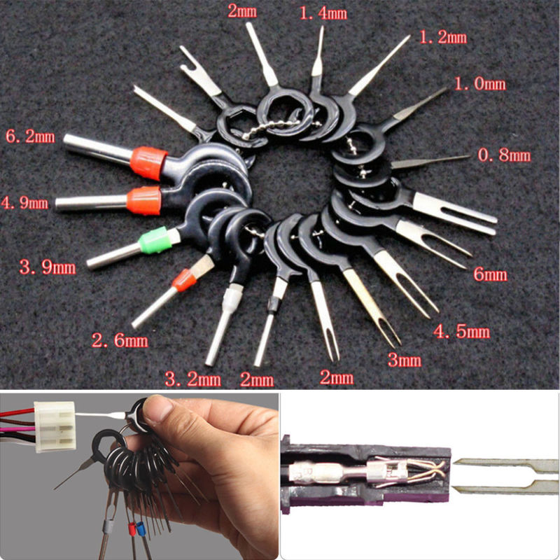 21//26//36PC Car Terminal Removal Tool Wire Plug Connector Extractor Puller Pin DT